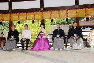 Kyoto, 20/20/2016 - La cerimonia di premiazione dei Sake Samurai 2016.